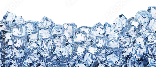 Ice cube background. Clipping path. Tableau sur Toile
