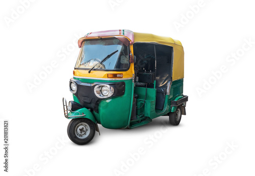 the autorickshaw isolated Slika na platnu