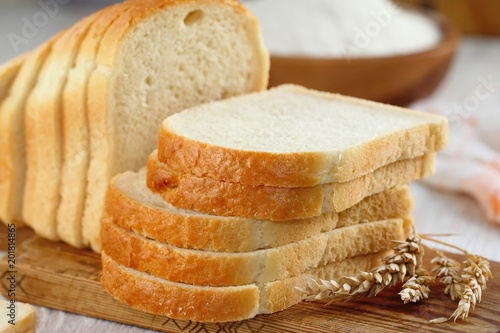 Sliced white bread Canvas Print