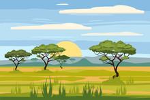African Landscape, Savannah, S...