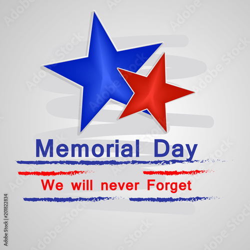 Illustration of USA Memorial Day background Wall mural