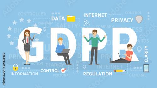 Fotografie, Obraz  GDPR concept illustration.