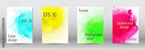 Fototapeta Design cover with a picture of watercolor spray. obraz na płótnie