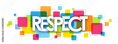 RESPECT colourful letters icon Wallpaper Mural