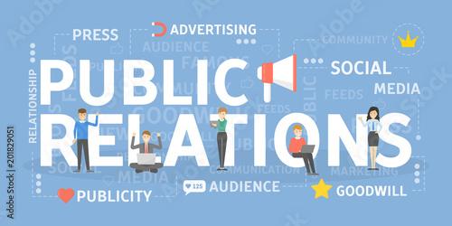Fotografie, Tablou  Public relations concept.