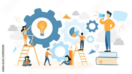 Foto  System building illustration.