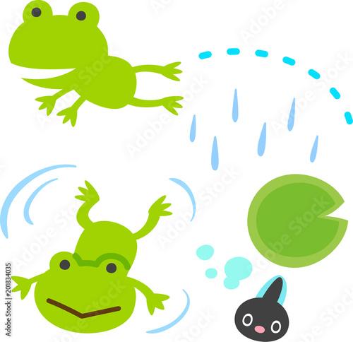 かわいいカエルとオタマジャクシ Canvas-taulu