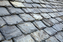 Aged Slate Tile Roof Background
