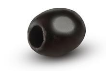 Whole Black Olive Isolated On White Background Macro