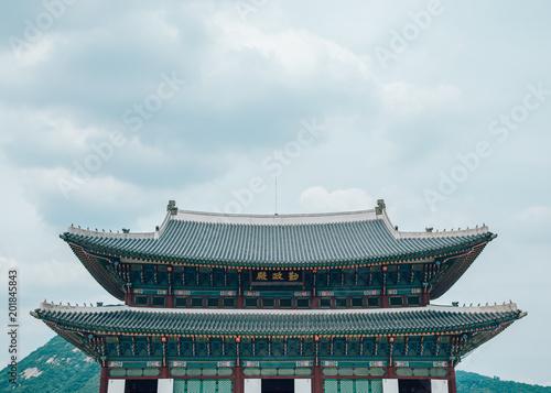 Gyeongbokgung Palace in Seoul, Korea Wallpaper Mural