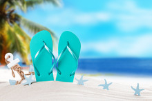 Summer Concept, Flip-flops, Su...