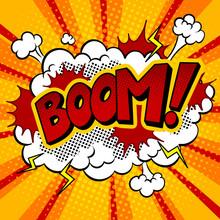 Boom Word Comic Book Pop Art V...