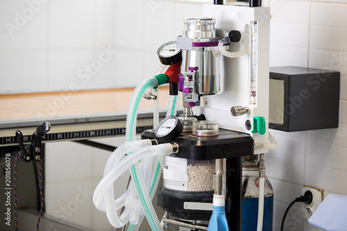 ICU anaesthesia ventilator workstation Canvas Print