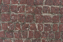 Red Squared Stones Road Surface