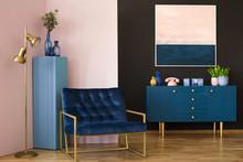 Wide Armchair In Living Room