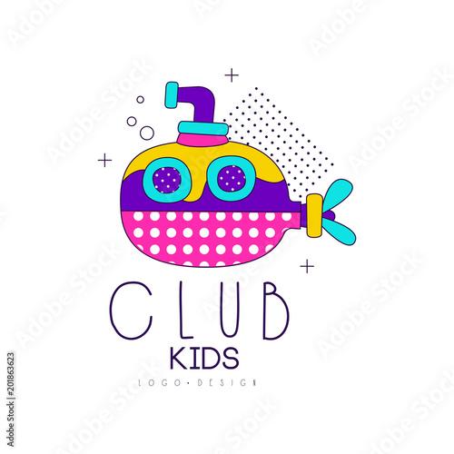 Kids Club Logo Design Label For Development Educational Or Sport