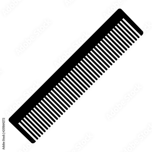 Fotomural Silhouette a comb