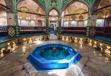 Interior Of Sultan Amir Ahmad Historical Bath In Kashan, Iran