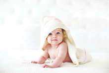 Six Month Baby Wearing Towel A...