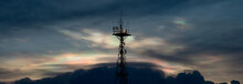 Silhouette Of Cellular Tower W...