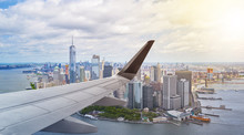 Aerial New York City With Airp...