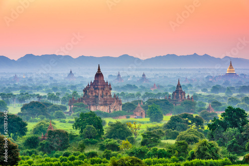Wall Murals Place of worship Bagan, Myanmar Ancient Temple Landscape