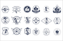 Vector Set Of Vintage Fishing ...