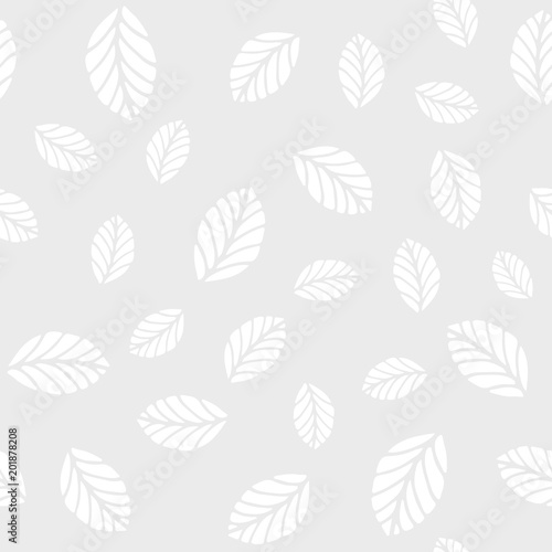Fototapety, obrazy: Vector seamless pattern with mint leaves