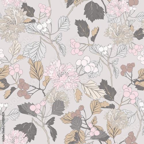 monochromatyczny-retro-botaniczny-bezszwowy-rocznika-kwiatu-wzoru-wektoru-tla-tekstylna-sztuka