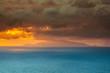 Power of nature dramatic orange sky above ischia island