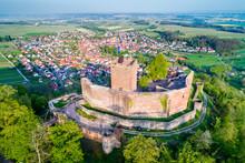 Landeck Castle And Klingenmunster Town In Rhineland-Palatinate, Germany