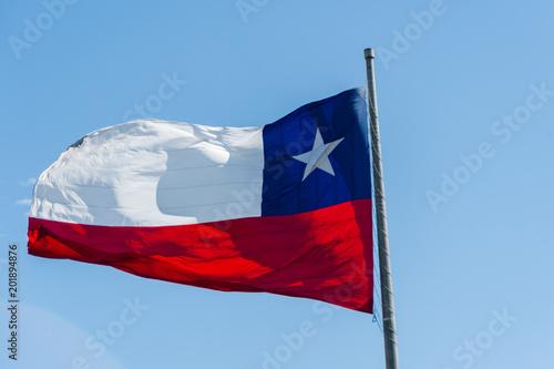 Papiers peints Amérique du Sud Flag of Santiago de Chile - South America
