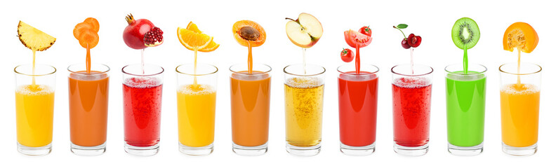 FototapetaCollection of fresh juices