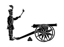 Hussar And Gun