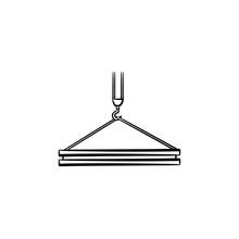 Crane Hook Hand Drawn Outline ...