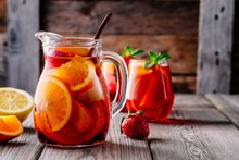 Homemade Red Wine Sangria With...