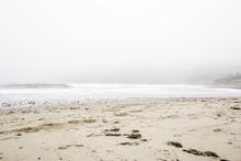 Mist Over Sandy Beach
