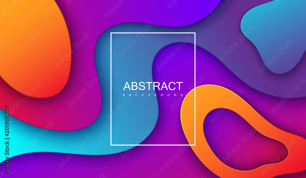 Fototapety, obrazy: Colorful gradient cover design.