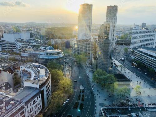 Spoed Fotobehang Berlijn Panorama Berlin City West