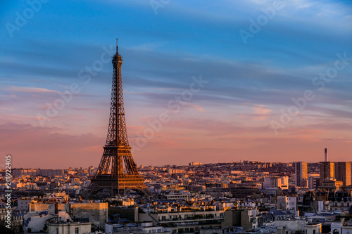 Recess Fitting Paris Eiffel Tower at Sunset