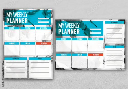 weekly business planner layout buy this stock template and explore
