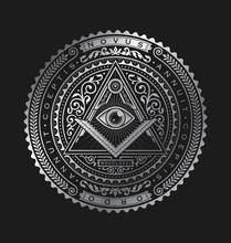 All Seeing Eye Emblem Badge Ve...
