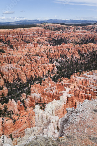 Tuinposter Canyon Colorful Landscape Background Of Bryce Canyon, USA
