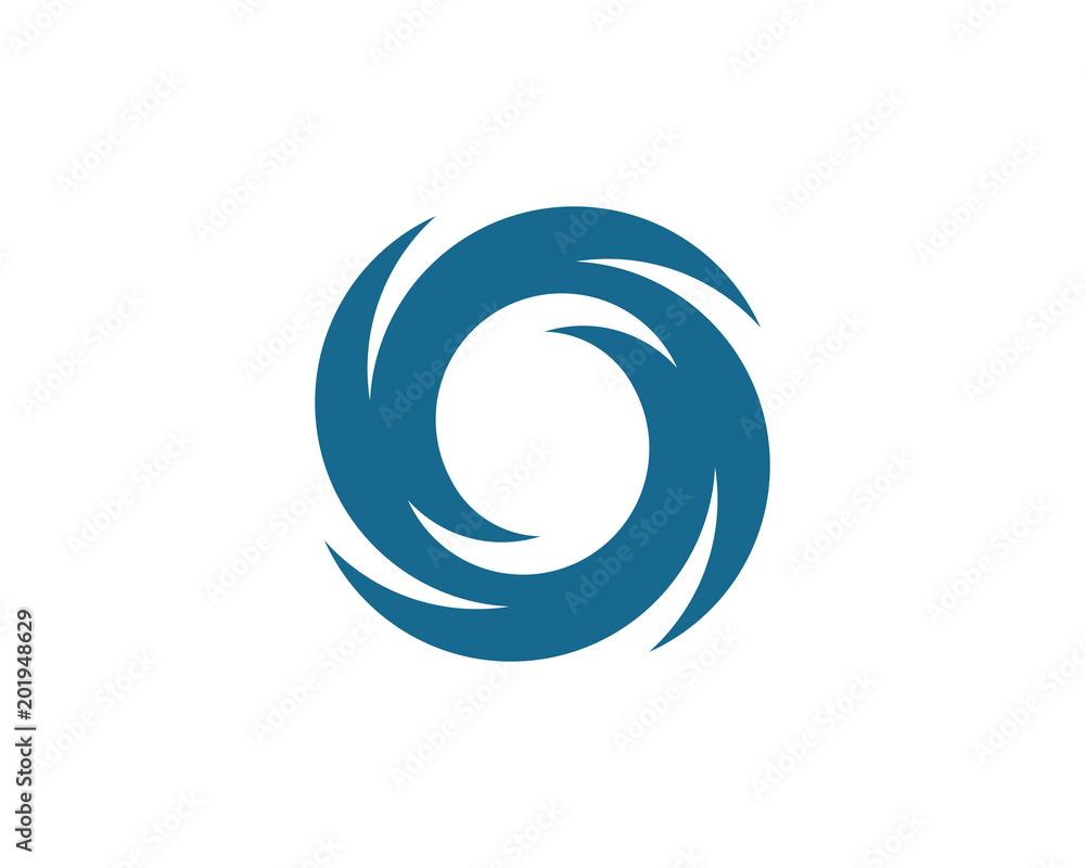 Fototapety, obrazy: Vortex vector illustration icon Logo