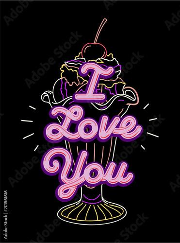 graficzny-slogan-typografii-trojwymiarowej-kocham-cie-do-nadruku-na-t-shirt-i