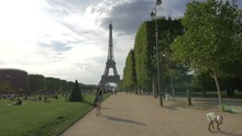 Avenue Anatole France And The Eiffel Tower