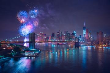 New-York feux d'artifices du 4 juillet - Independance Day