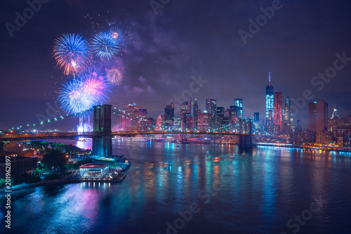 New-York feux d'artifices du 4 juillet - Independance Day