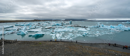 Printed kitchen splashbacks Glaciers Jokulsarlon glacier lagoon, Iceland