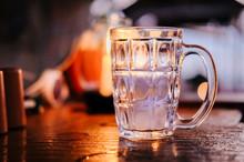 Empty Transparent Beer Mug On ...